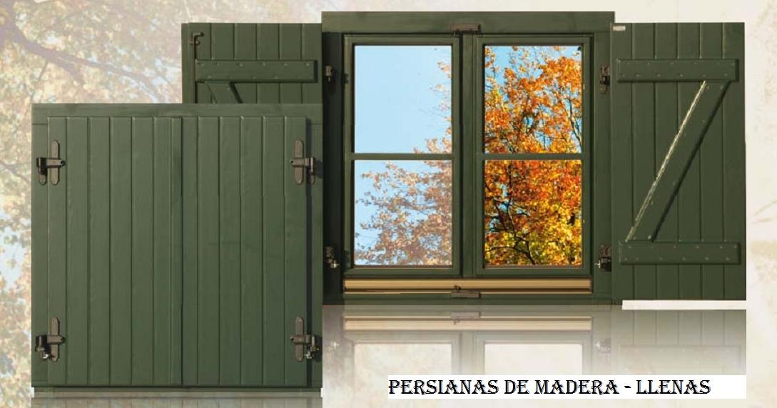 Persianas de madera de ventanka online for Fabrica de puertas y ventanas en la plata