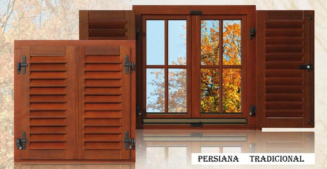 Persianas de madera de ventanka online for Precio ventana pvc con persiana