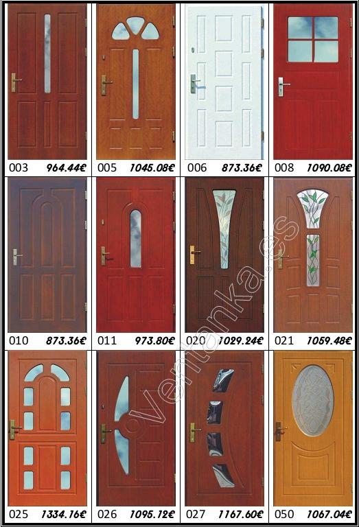 Puertas de entrada de madera precios Precio puertas de paso