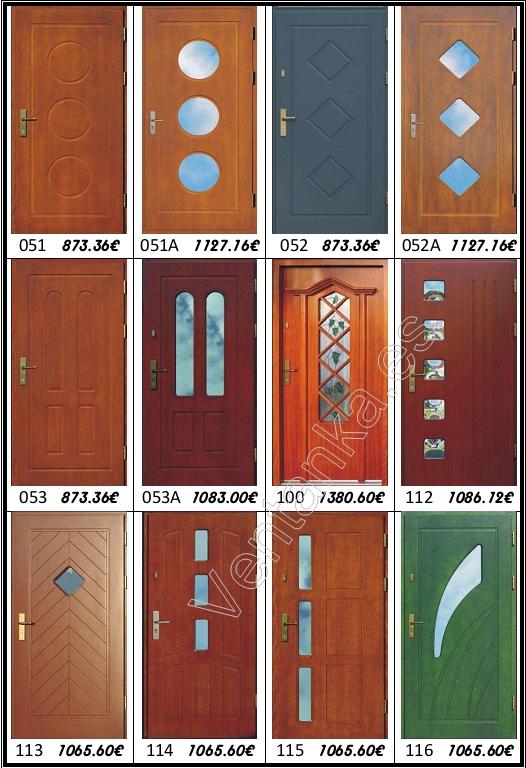 puertas de entrada de madera precios