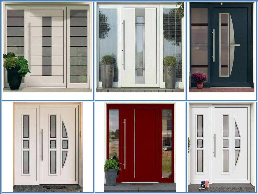 Puertas de entrada de pvc for Modelos de puertas de entrada en aluminio