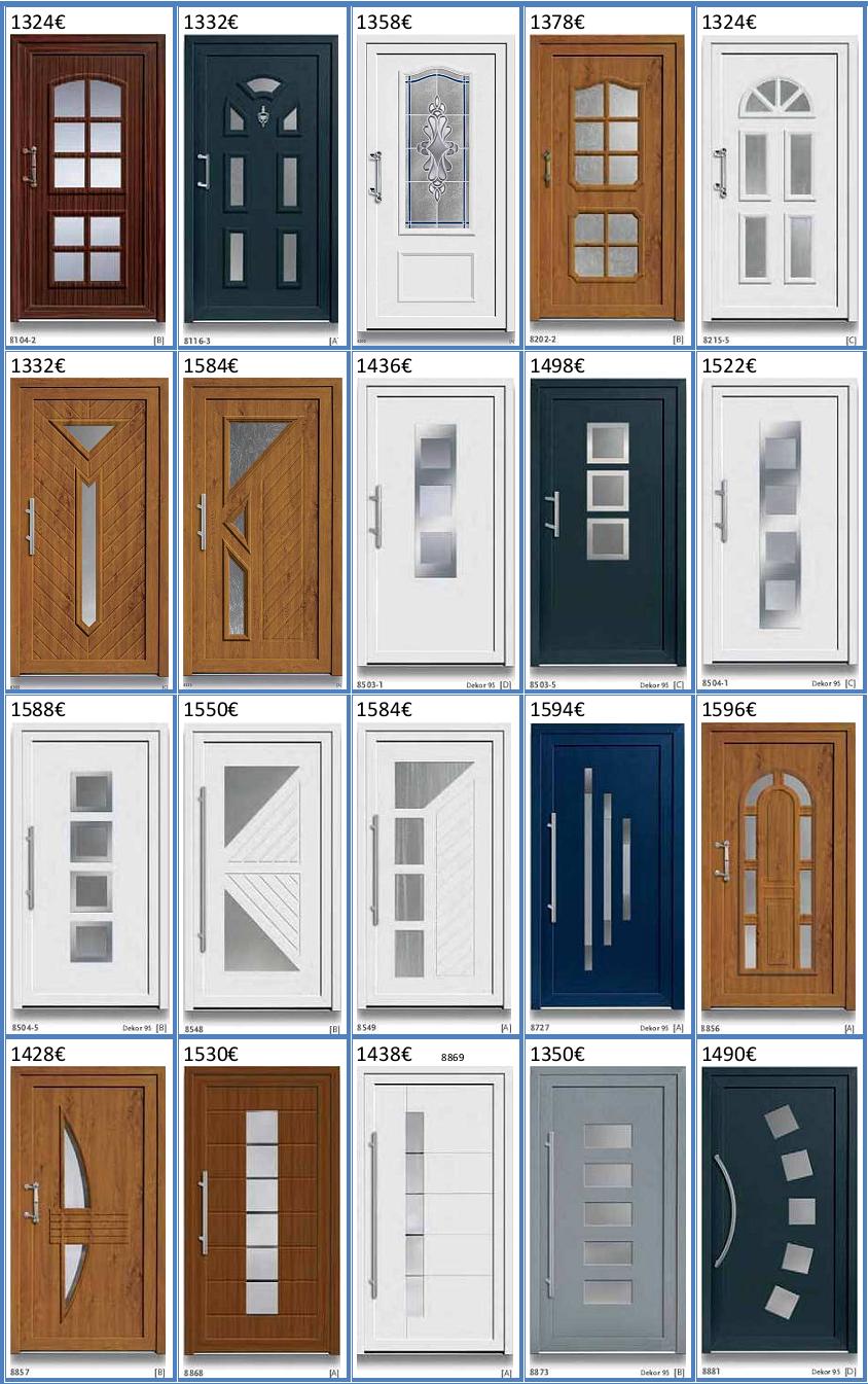 Puertas de entrada de pvc hasta 1600 - Puertas de entrada precios ...