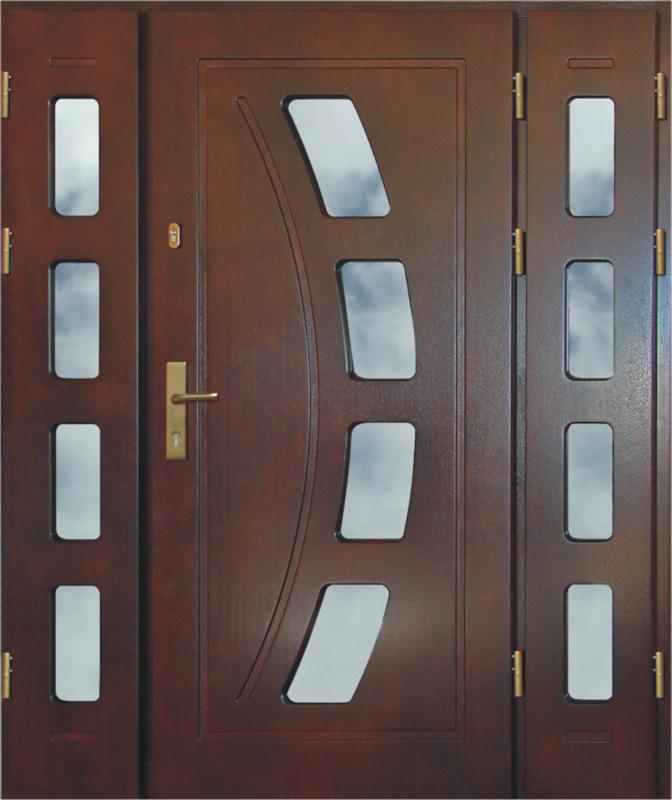 Puertas de entrada de madera for Puertas dobles de madera exterior