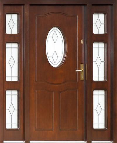 Puertas de entrada de madera for Puertas de madera maciza exterior