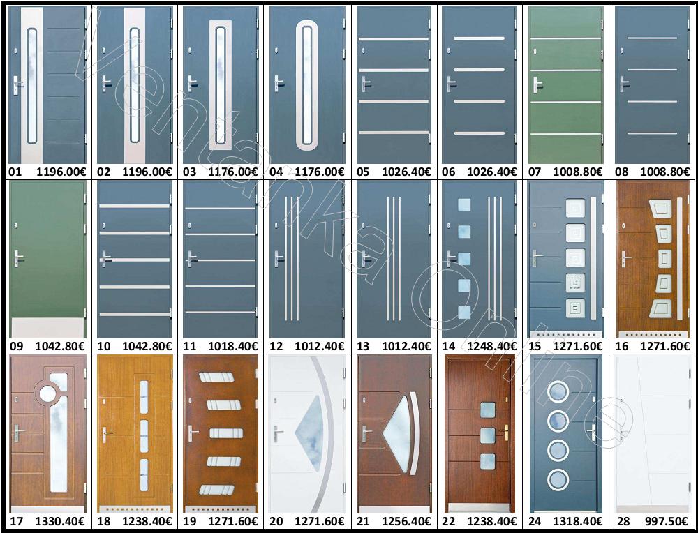 Puertas de madra inox for Ventanas de aluminio estandar medidas